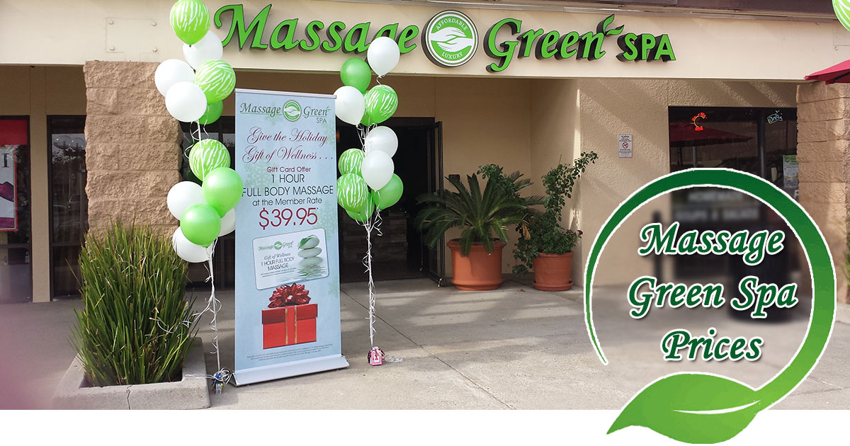 Massage Green Spa Prices Image