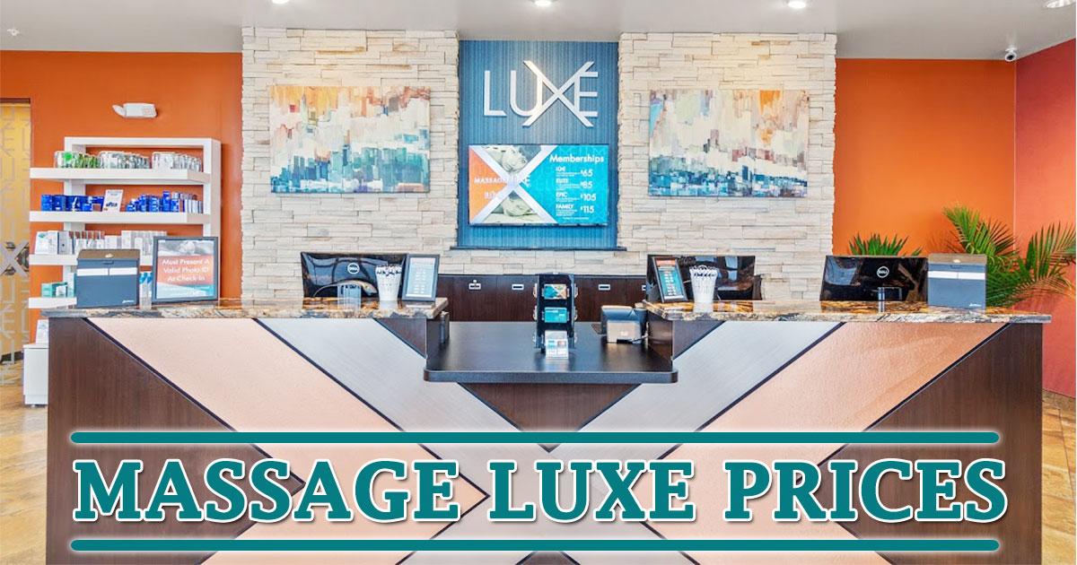 Massage Luxe Prices Image