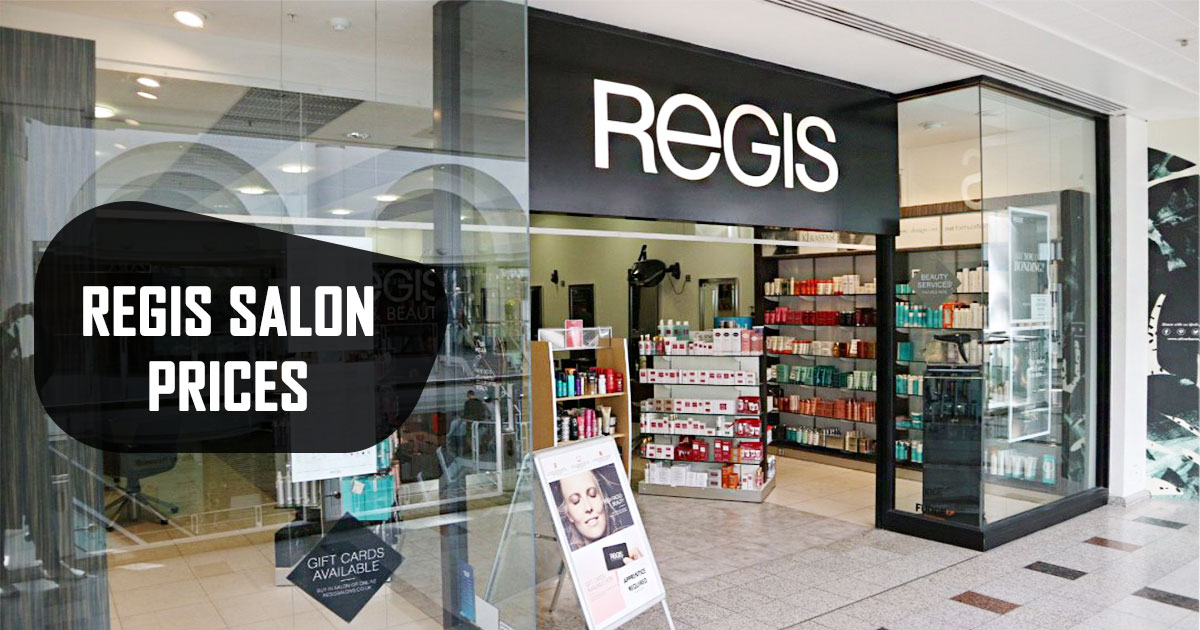 Regis Salon Prices Image